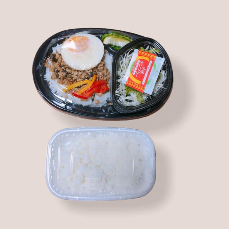 お弁当の大きさの比較