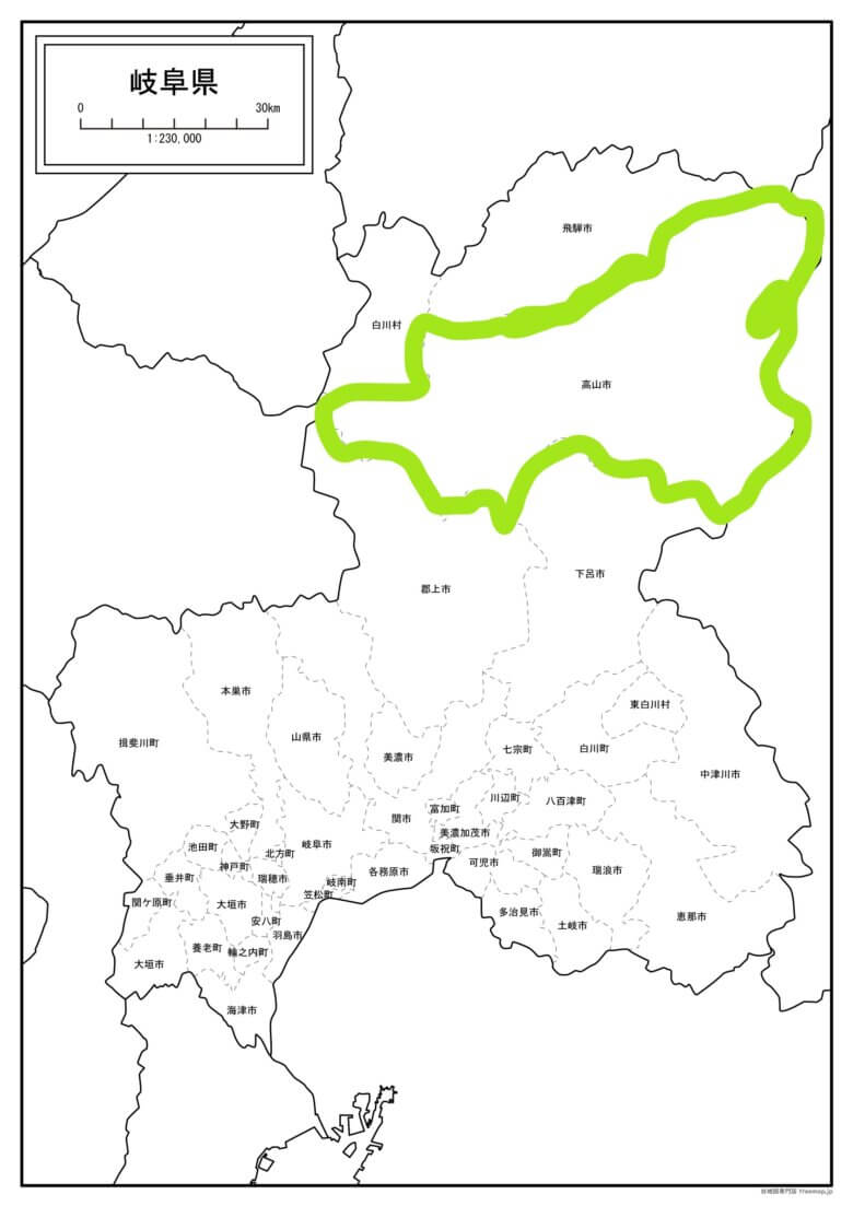 岐阜の地図